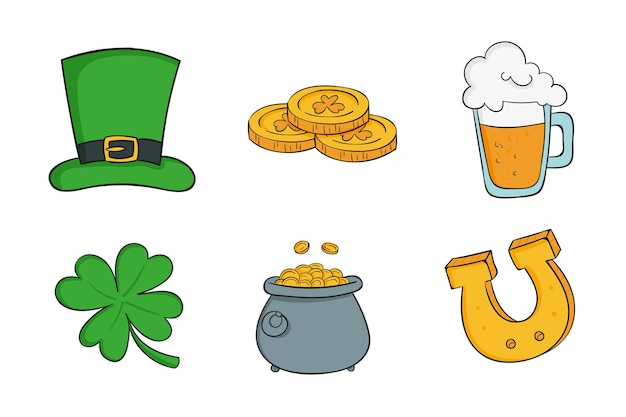 St. patrick day instagram elements