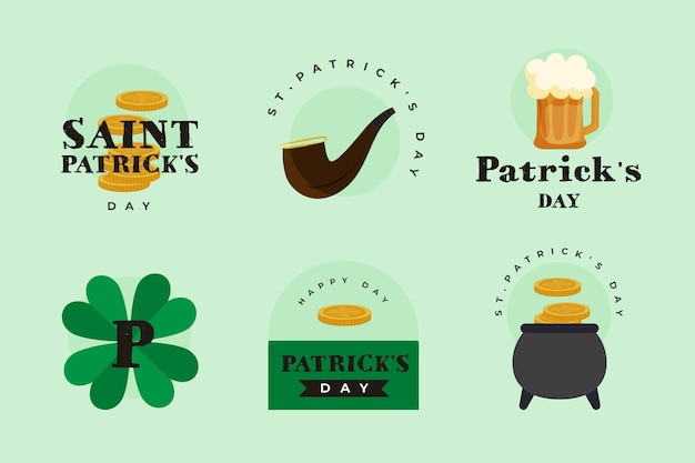 St. patrick day instagram labels