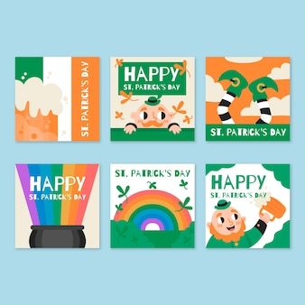 St. patrick day instagram stories collection