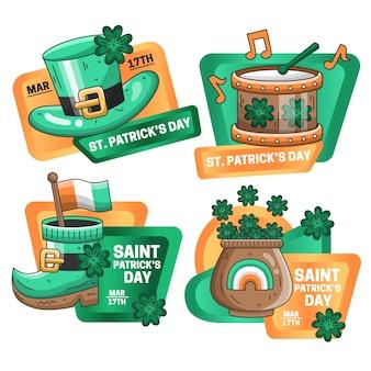 Коллекция этикеток ко дню святого патрика
