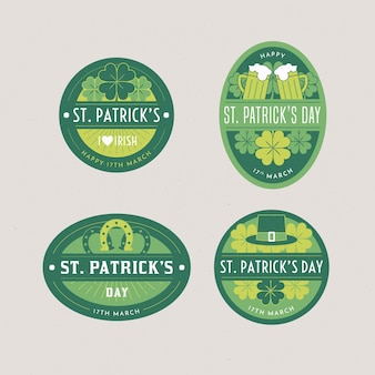 St. patrick day label collection