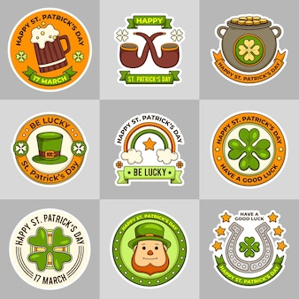 St. patrick day labels template