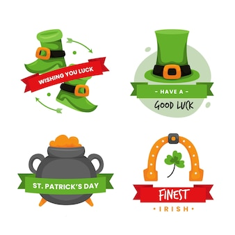 St. patrick day labels