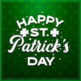 St. patrick day lettering
