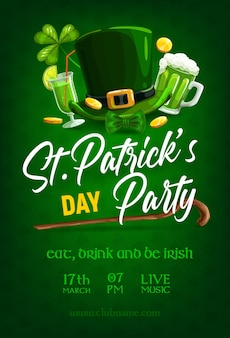 St patrick day party poster