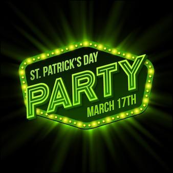 St. patrick day poster.  illustration