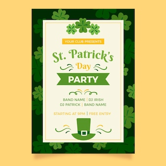 St patrick day poster template
