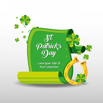 St patrick day with horseshoe