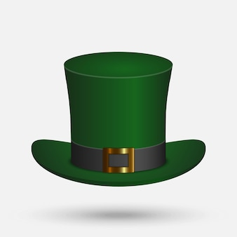 St. patrick green hat isolated on white background