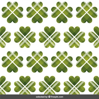 St. patrick pattern with checkered clover