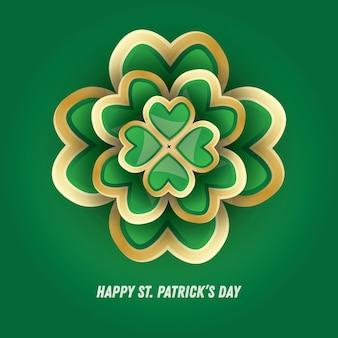 St. patrick's day 3d clover. vector illustration.