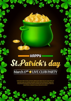 St. patrick's day advertising poster