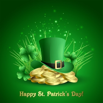 St.patrick's day background.  illustration
