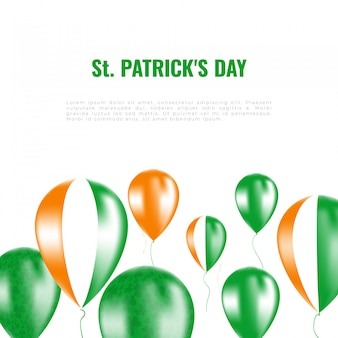 St. patrick's day background whith helium balloons