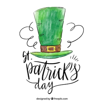 St. patrick's day background with lettering