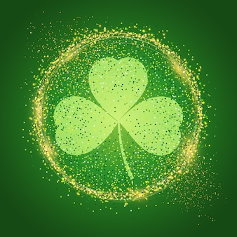 St patrick's day background with shamrock