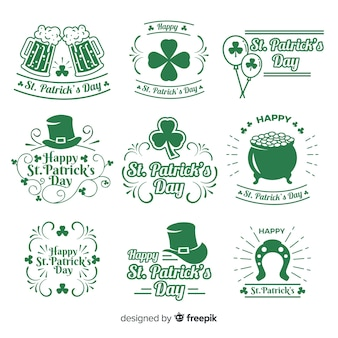 St. patrick's day badge collection