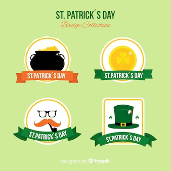 St patrick's day badge collection