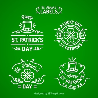 St. patrick's day badge/ label collection