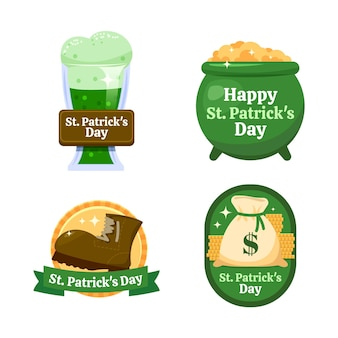 St. patrick's day badge pack