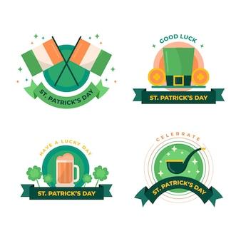 Set di badge per il giorno di san patrizio