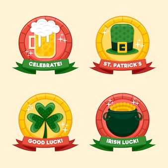 St. patrick's day badge with beer and luck
