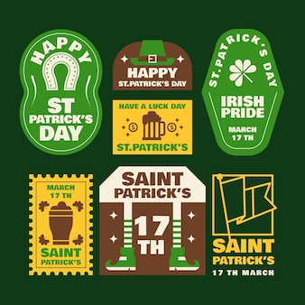 St. patrick's day badge with clovers