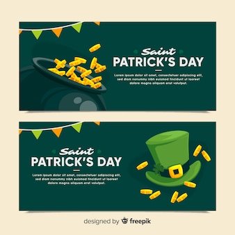 St patrick's day banner set