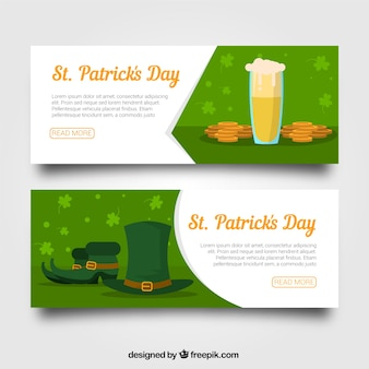 St. patrick's day banner web collection