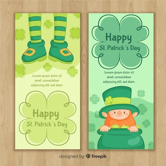 St patrick's day banners