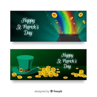 St. patrick's day banners