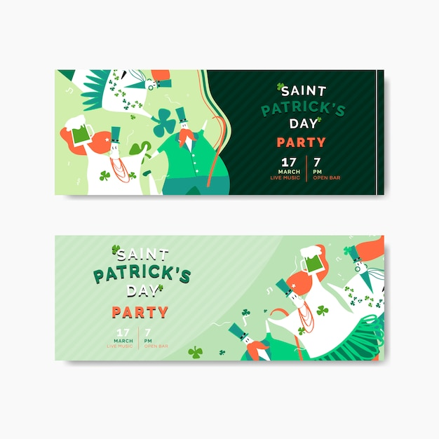 St. patrick's day celebration set layout vector