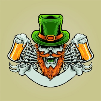 St patrick's day character design