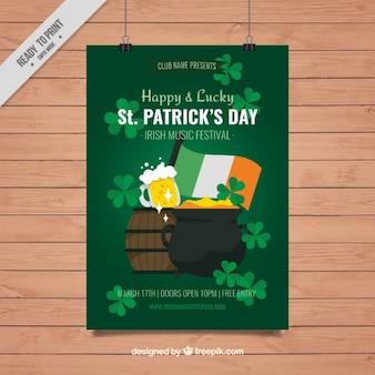 St. patrick's day festival poster