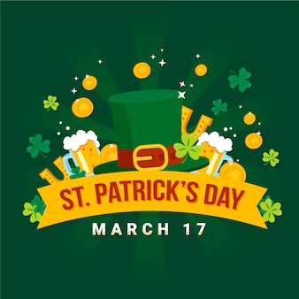 St. patrick's day in flat design