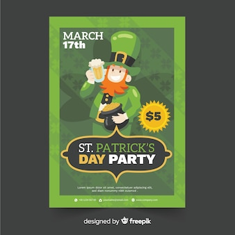 St. patrick's day flyer party template