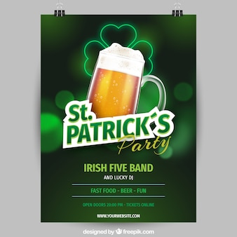 St. patrick's day flyer / poster template