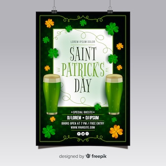 St. patrick's day flyer teplate
