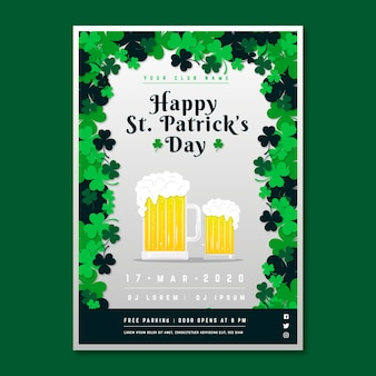 St. patrick's day flyer with blond pale ales