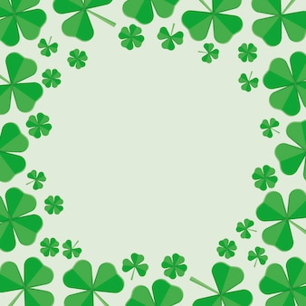 St.patrick 's day frame of green clover