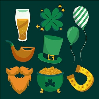 St. patrick's day hand drawn elements