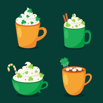St. patrick's day hot drinks collection