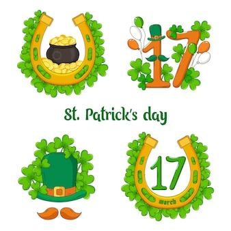 聖パトリックの日のイラストセット