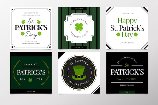 St. patrick's day instagram post collection