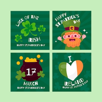 St. patrick's day instagram post pack