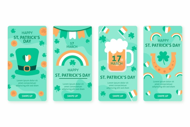 St. patrick's day instagram stories collection