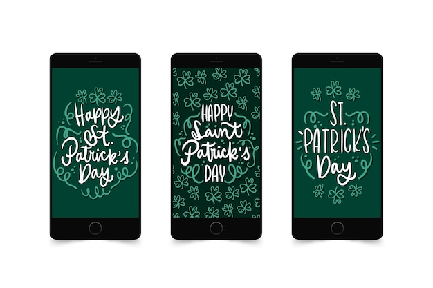 St. patrick's day instagram stories on mobile phone