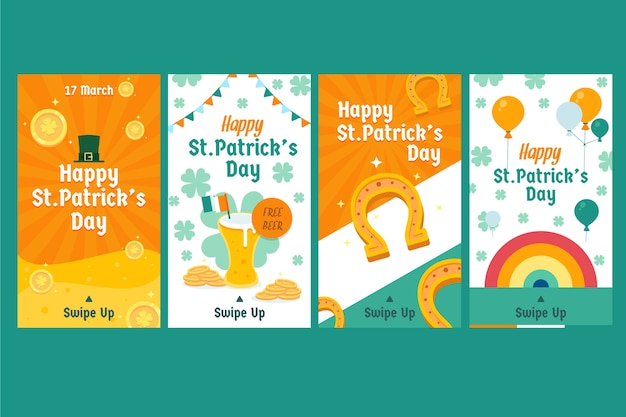 St. patrick's day instagram stories pack