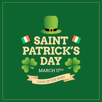 St. patrick's day irish poster and greeting card