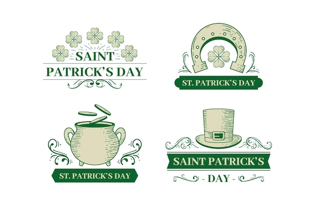 St. patrick's day label pack